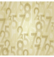 Numbers abstract background vector