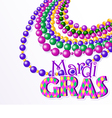 Mardi gras beads background vector