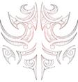Maori tribal art tattoo vector