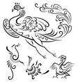 Bird tattoo design vector