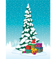 Christmas tree and gifts vector