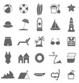 Beach icons on white background vector