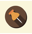 Flat circle web icon pin for papers vector