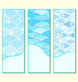 Blue banner set vector