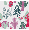 Flat forest wallpaper vector