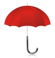 Red open umbrella vector