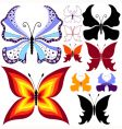 Collection abstract butterflies vector