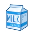 Carton of milk vector