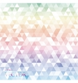 Modern white abstract background with triangles vector