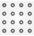 Poker chips black icons set vector
