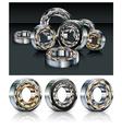 Metal roller bearings vector