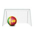 A ball near the net with the sri lanka flag vector
