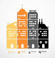 Infographic template city tower jigsaw banner vector