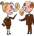 Business people talking money vector