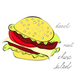 Hamburger isolated on white background vector