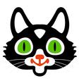 Head of black cats vector