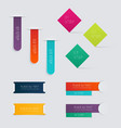 Set of colorful text box vector