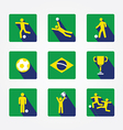 World soccer icons and apps set design concept vector