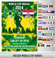 World cup 2014 flyer vector