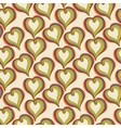 Abstract colorful hearts on a beige background vector