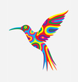 Humming bird colorfully vector