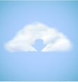 Cloud computing icon with arrow download vector