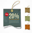Vintage label ripped paper sale for business vector