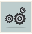 Technology mechanical gear icon vector