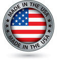 Made in the usa silver label vector