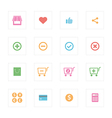 Shopping icon set design vector