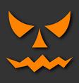 Jack o lantern pumpkin faces glowing on black vector