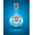 Glass flask bottle vector