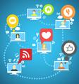 Global social network vector