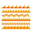 Fire design elements set vector
