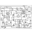 Circuit board schematic pattern vector