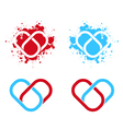 Link connected heart vector