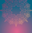 Circle lace hand-drawn ornament card ornamental vector