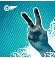 Peace hand vector