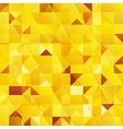 Yellow abstract triangles seamless pattern vector
