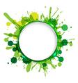 Dialog balloons with green blobs vector