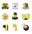 Bank security icons | bella vector