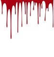 Blood dripping background vector