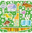 African animals pattern vector
