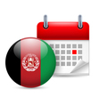 Icon of national day in afghanistan vector