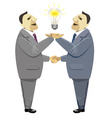 Businessmen handshake solution business deal vector