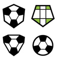 Soccer club emblem ball vector