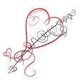 Decorative heart and arrow vector
