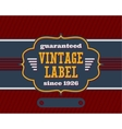 Vintage label with flat colors vector