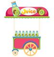 A juice cart vector