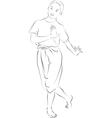 The thai national dances vector